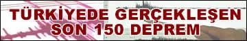 Sakarya ve tüm Türkiye'de gerçekleşen son 150 deprem bilgisi için tıklayınız